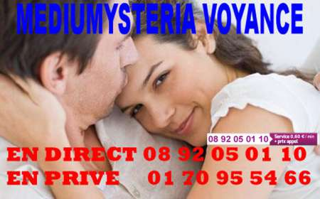 Photo ads/1015000/1015281/a1015281.jpg : VOYANCE DE L'AMOUR MEDIUMYSTERIA 0892 05 01 10