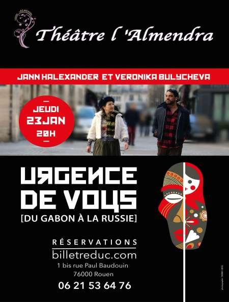 Photo ads/1592000/1592093/a1592093.jpg : 23 janvier  : spectacle 'Urgence de vous' [du Gabo
