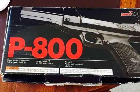 pistolet air comprim gamo p 800 collectionneur vendre gratuitement. Black Bedroom Furniture Sets. Home Design Ideas